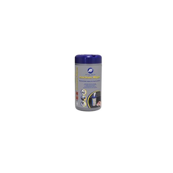 """Image of AF Tisztítókendő, izopropil alkohollal, antibakteriális, 100 db, """"Isoclene"""""""