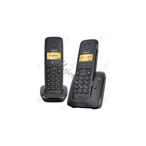 GIGASET ECO DECT Telefon A120 DUO fekete Magyar menü GIG A120DUO