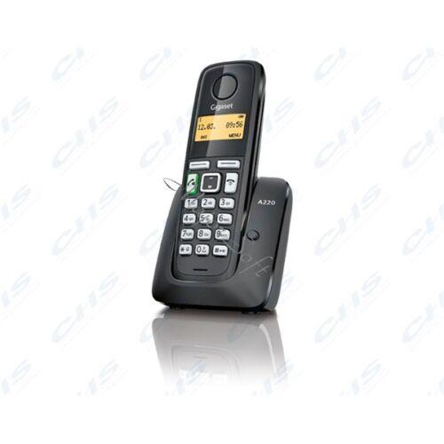 GIGASET ECO DECT Telefon A220A fekete Magyar menü, üzenetrögzítő GIG A220A