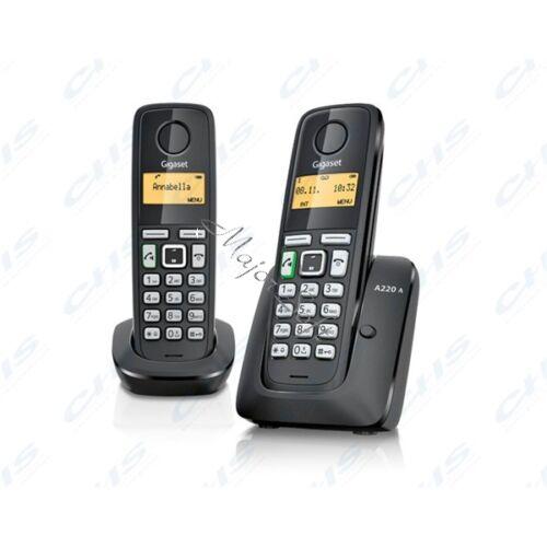 GIGASET ECO DECT Telefon A220 DUO fekete Magyar menü GIG A220DUO