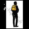 """Kép 5/6 - SAMSONITE Notebook hátizsák115514-1371, LAPTOP BACKPACK 14,1"""" (GOLDEN YELLOW) -CITYVIBE 2.0"""