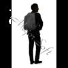 "Kép 10/11 - SAMSONITE Notebook hátizsák 115331-1041, LAPTOP BACKPACK L 17.3"" (BLACK) -GUARDIT 2.0"