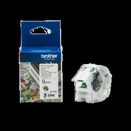 BROTHER Etikett címke CZ-1001, színes, folytonos szalagtekercs, 9mm, 5m