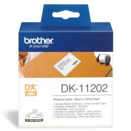 BROTHER Etikett címke DK-11202, Elővágott (stancolt), Papír címke, Fehér alapon fekete, 300 db