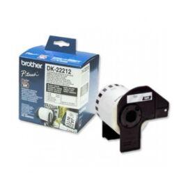 BROTHER Etikett címke DK-22211, Fehér alapon fekete, filmrétegű szalag tekercsben 29mm, 29mm x 15.24M