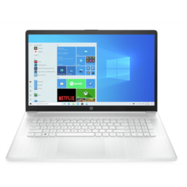 "HP 17-cp0002nh, 17.3"" FHD AG IPS, Ryzen3 5300U, 8GB, 256GB SSD, Win 10, fehér"