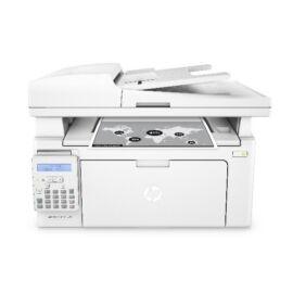 HP Lézer MFP NY/M/S/F LJ Pro M130fn, ff, USB/Háló, 256MB, A4 22lap/perc FF, 600x600, Síkágyas, ADF,Fax