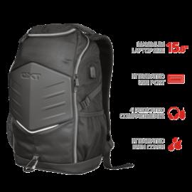 "TRUST Gamer Notebook hátizsák 23240, GXT 1255 Outlaw Gaming Backpack for 15.6"" laptops - black"