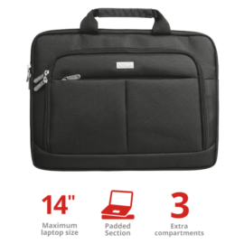 "TRUST Notebook táska 19761, Sydney Slim Bag for 14"" laptops - black"