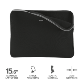 """TRUST Notebook tok 21248, Primo Soft Sleeve for 15.6"""" laptops - black"""