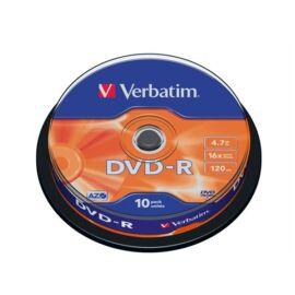 VERBATIM DVD-R lemez, AZO, 4,7GB, 16x, 10 db, hengeren,