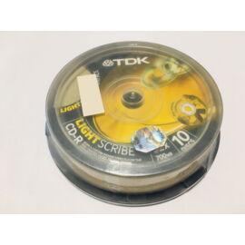TDK CD lemez CD-R80 52x 10db/Henger Light Scribe