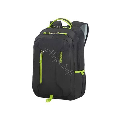 "AMERICAN TOURISTER Notebook hátizsák 78828-2606, UG4 LAPT. BACKPACK 15.6"" (BLACK/LIME GREEN) -URBAN GROOVE"