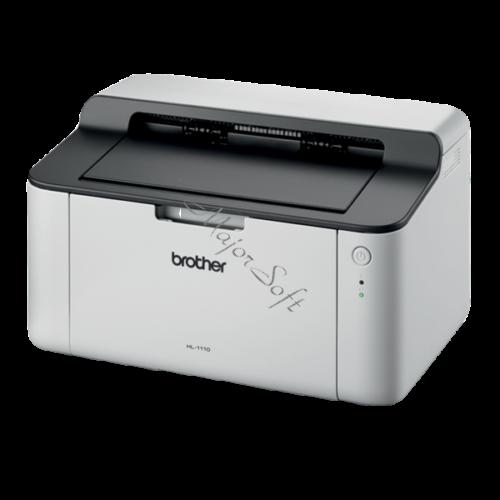 BROTHER Lézernyomtató HL-1110E, A4, mono, 20 lap/perc, USB, manuál duplex, 2400x600dpi, 1MB