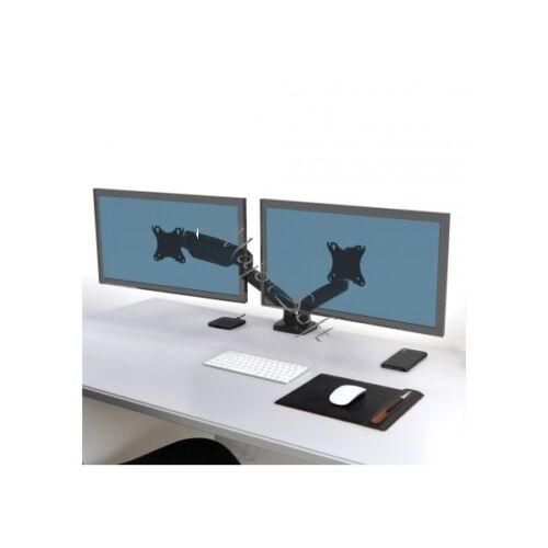 """Port Designs-Port Connect Asztali monitor állvány - dupla, 75x75/100x100, 32""""-ig, max 8 kg, forgatható, dönthető"""