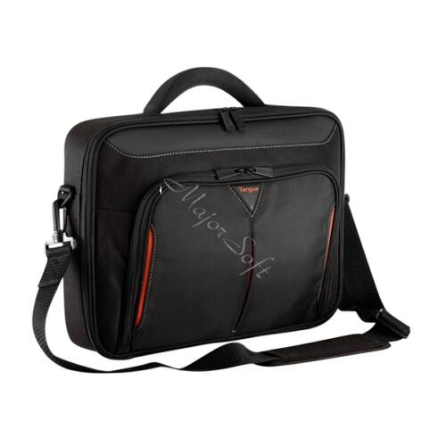 "TARGUS Notebook táska CN415, Classic+ 15-15.6"" Clamshell Laptop Bag - Black/Red"